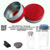 20mm flip top cap red plastic cap seal FC20-13P