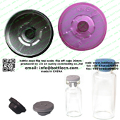 20mm flip top cap transparent magenta FC20-21P