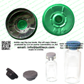 20mm clear green bottle cap FC20-22P