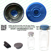 20mm clear blue flip off cap bottle cap FC20-23P