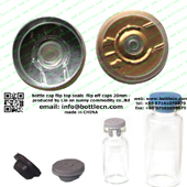 20mm clear gold bottle cap FC20-26P