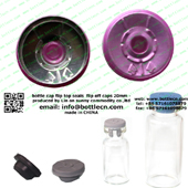 20mm clear pink bottle cap FC20-27P