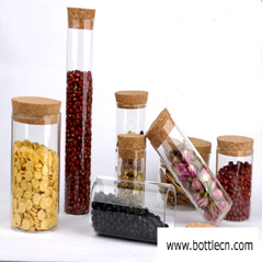 empty Food Grade Clear Glass Bottles with Cork Stopper manufacturer