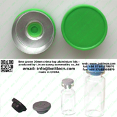 lime green 20mm crimp top aluminium lids for glass bottle FC20-31P