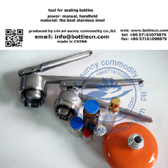 manual handheld perfume bottle capping machine for bottle closing