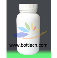 plastic bottles white HDPE pharmaceutical rounds with white lined caps