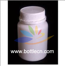 plastic bottles white HDPE pharmaceutical rounds with white anti-theft caps