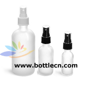 glass bottles frosted glass rounds bottle with fine mist sprayers