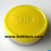 yellow 20mm keifei flip off cap- tear off seal