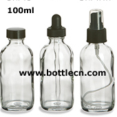 round glass dropper bottle