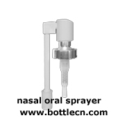 glass bottle with nasal sprayer to hold own saline rinse
